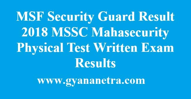MSF Security Guard Result