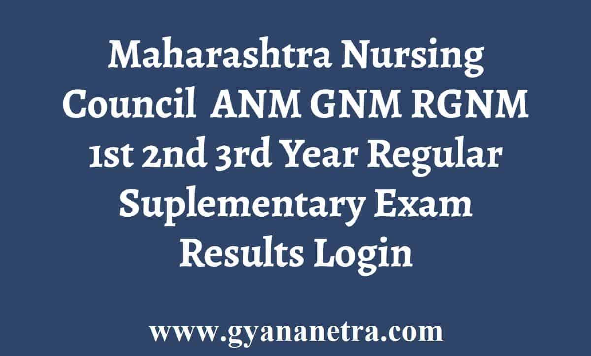 Maharashtra Nursing Council MNC Result