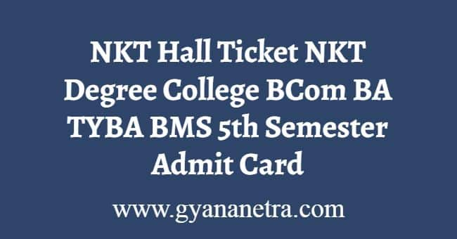 NKT Hall Ticket