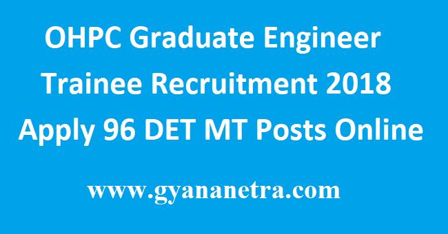 OHPC Graduate Engineer Trainee Recruitment