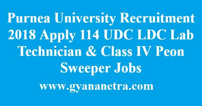 Purnea University Recruitment