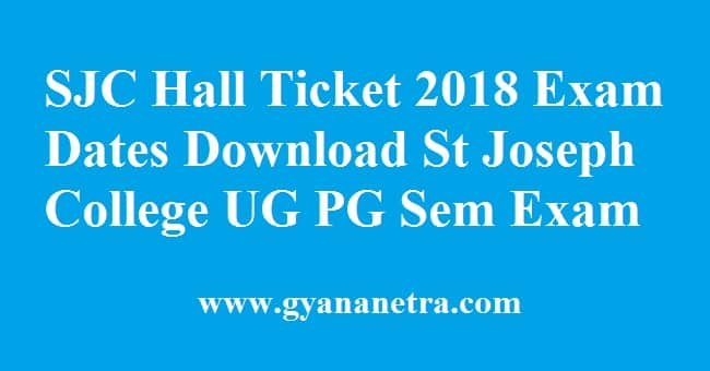 SJC Hall Ticket