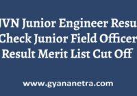 SJVN Junior Engineer Result Merit List