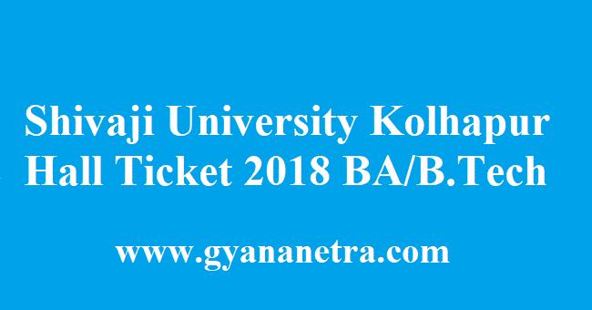 Shivaji University Kolhapur Hall Ticket 2018