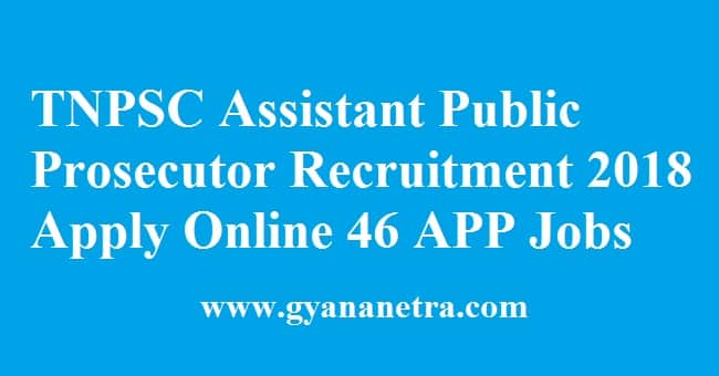 TNPSC Assistant Public Prosecutor Recruitment