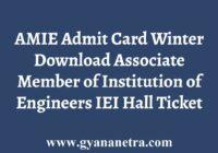 AMIE Admit Card Hall Ticket