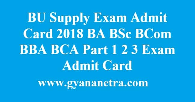 BU Supply Exam Admit Card