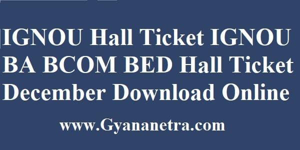 IGNOU Hall Ticket Exam Date