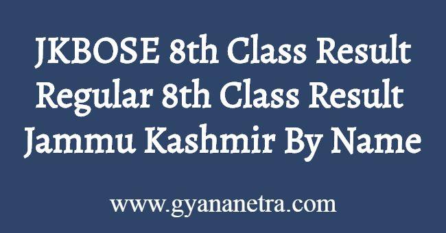 JKBOSE 8th Class Result