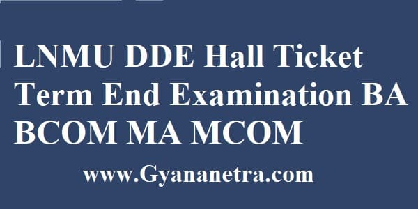 LNMU DDE Hall Ticket Download