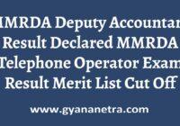 MMRDA Deputy Accountant Result Merit List