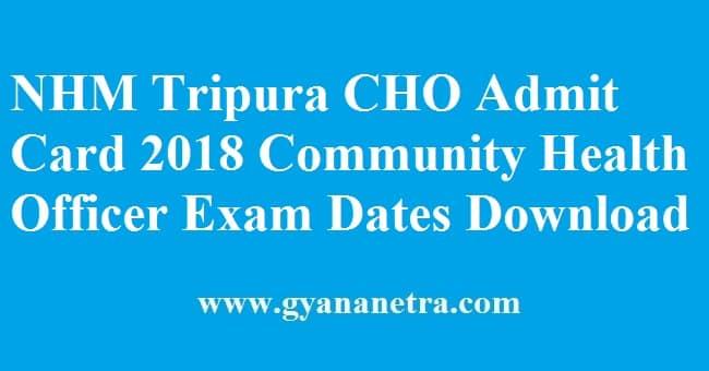 NHM-Tripura-CHO-Admit-Card