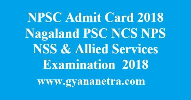 NPSC Admit Card