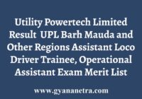 Utility Powertech Limited Result