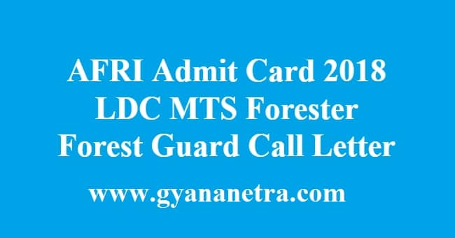 AFRI Admit Card