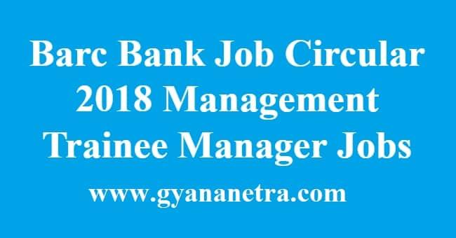 Barc Bank Job Circular