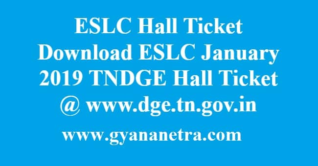 ESLC Hall TIcket Download