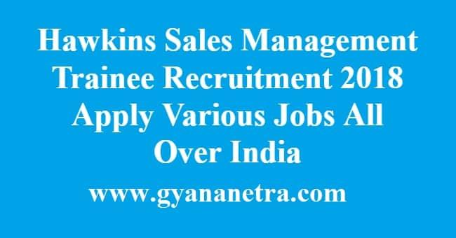 Hawkins Sales Management Trainee Recruitment