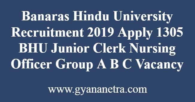 Banaras Hindu University Recruitment