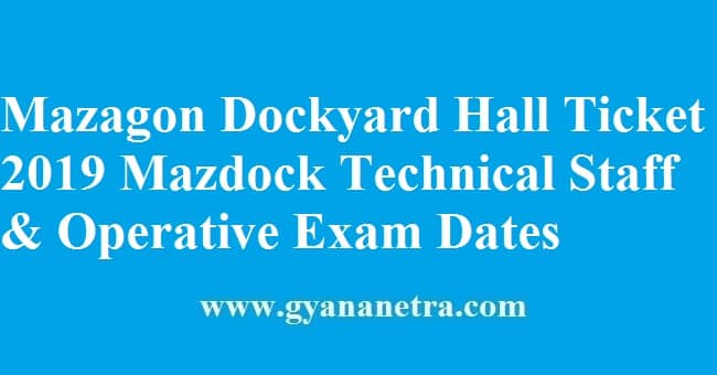 Mazagon Dockyard Hall Ticket