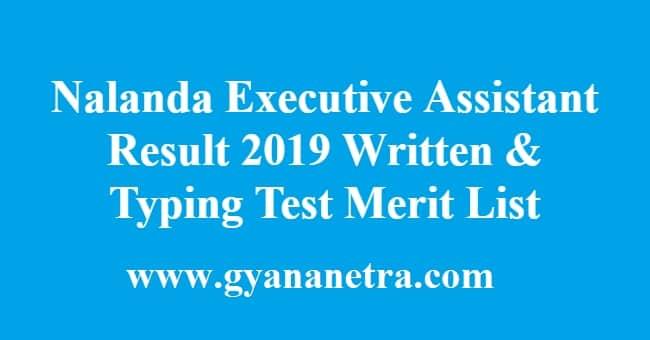 Nalanda Executive Assistant Result