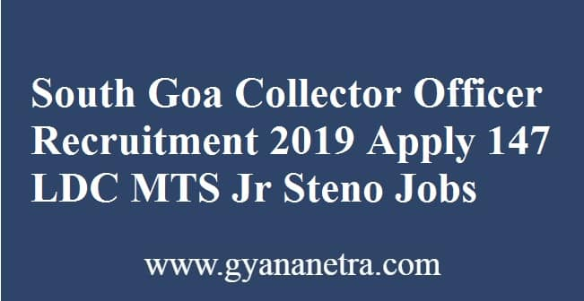 South Goa Collector Officer Recruitment