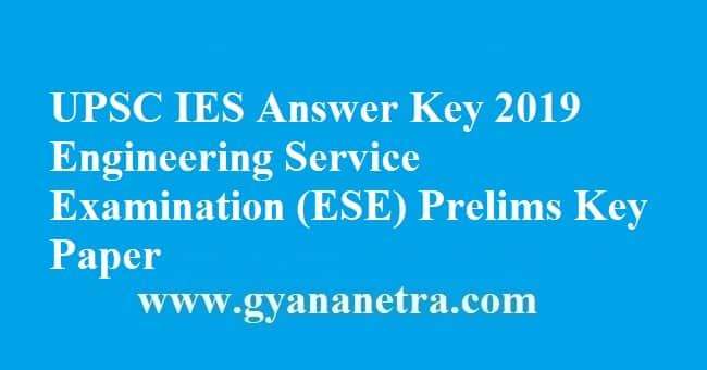 UPSC IES Answer Key