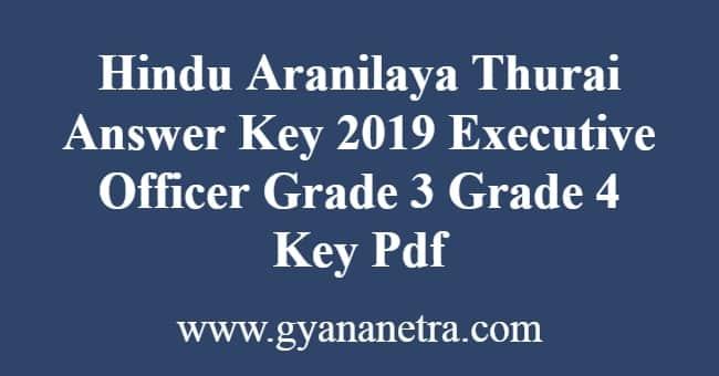 Hindu Aranilaya Thurai Answer Key