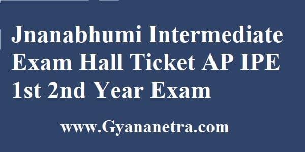 Jnanabhumi Intermediate Exam Hall Ticket