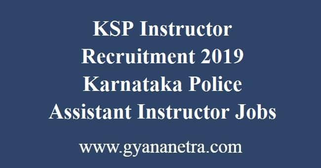 KSP Instructor Recruitment