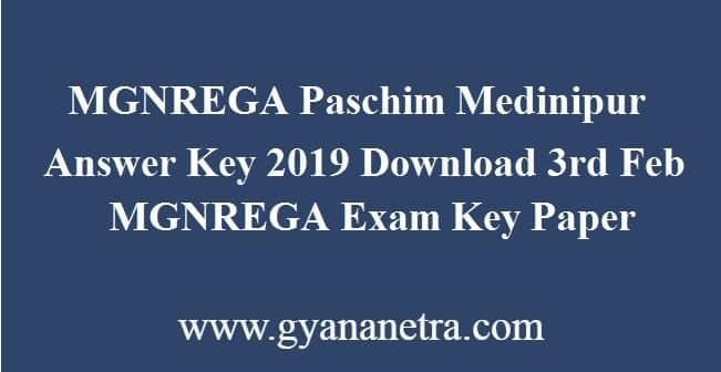 MGNREGA Paschim Medinipur Answer Key