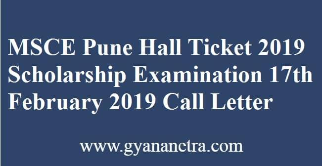 MSCE Pune Hall Ticket