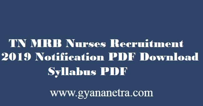 TN MRB Nurse Exam Syllabus