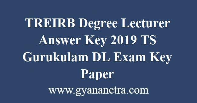 TREIRB Degree Lecturer Answer Key