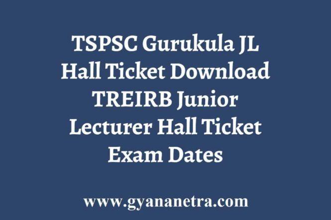 TREIRB Gurukula JL Hall Ticket