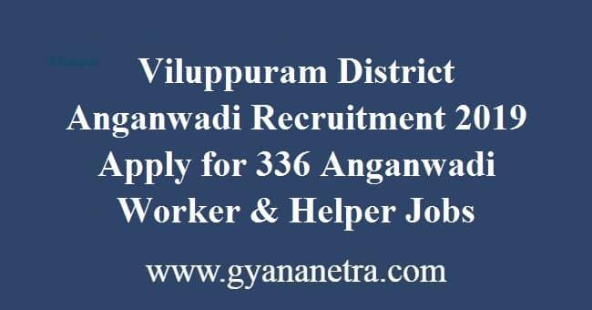 Viluppuram District Anganwadi Recruitment 2019
