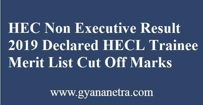 HEC Non Executive Result