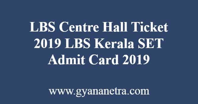 LBS Center Hall Ticket