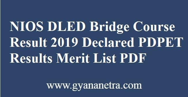 NIOS DLED Bridge Course Result