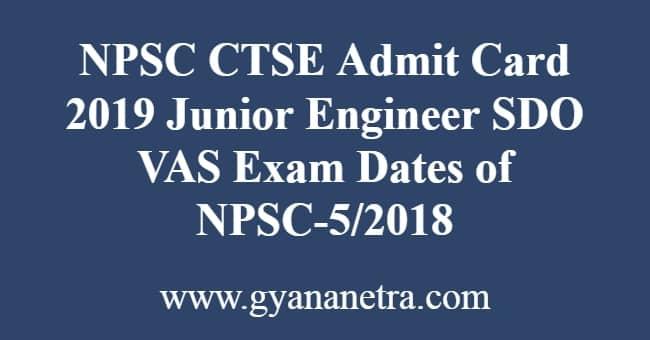NPSC CTSE Admit Card