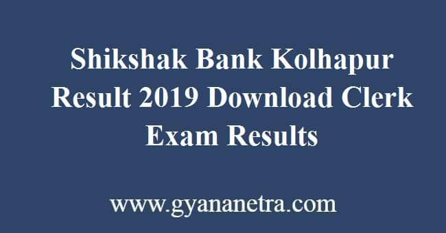 Shikshak Bank Kolhapur Result