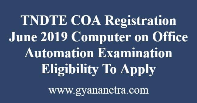 TNDTE COA Registration