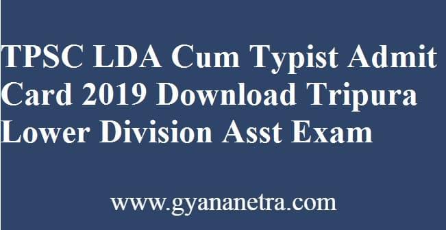 TPSC LDA Cum Typist Admit Card