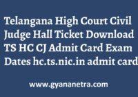 Telangana High Court Civil Judge Hall Ticket Exam Dates