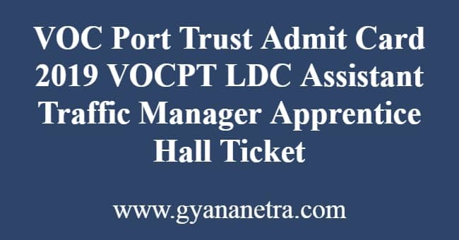 VOC Post Trust admit Card