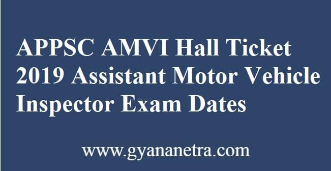 APPSC AMVI Hall Ticket