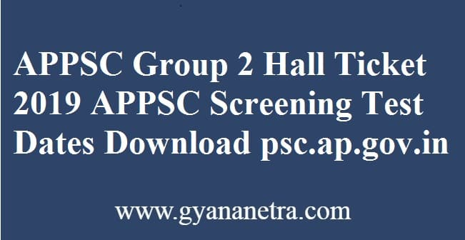 APPSC Group 2 Hall Ticket