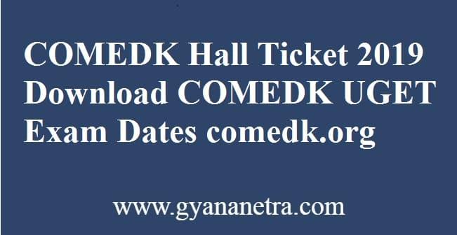COMEDK Hall Ticket