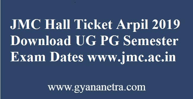 JMC Hall Ticket