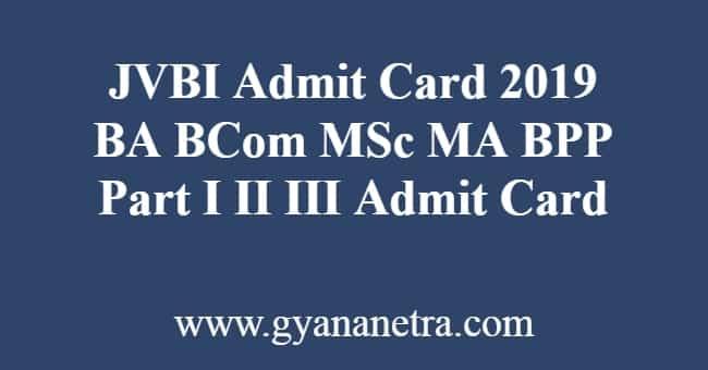 JVBI Admit Card